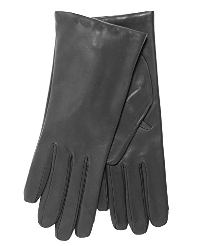 Fratelli Orsini Everyday Women's Italian Cashmere Lined Leather Gloves Size 8 1/2 Color Charcoal