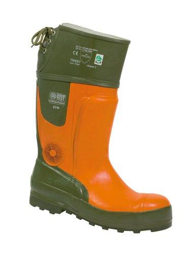 Watex 8-2100 Forest Jack EN345 SB E - Botas para trabajos forestales (grado de protección contra cortes: 2) Orange-Grün