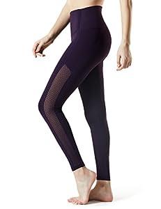 Tesla TM-FYP56-DVT_Large Yoga Mesh Long Pants High Tummy Control Waist w Hidden Pocket FYP56