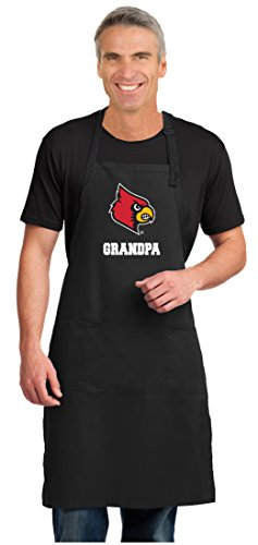 Broad Bay University of Louisville Grandpa Apron Large Size Louisville Cardinals Grandpa Gift for Men Man Him