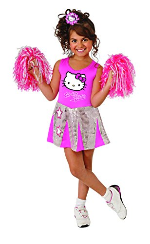Rubies Hello Kitty Cheerleader Costume, Toddler (Halloween Costumes Vampire Cheerleader)