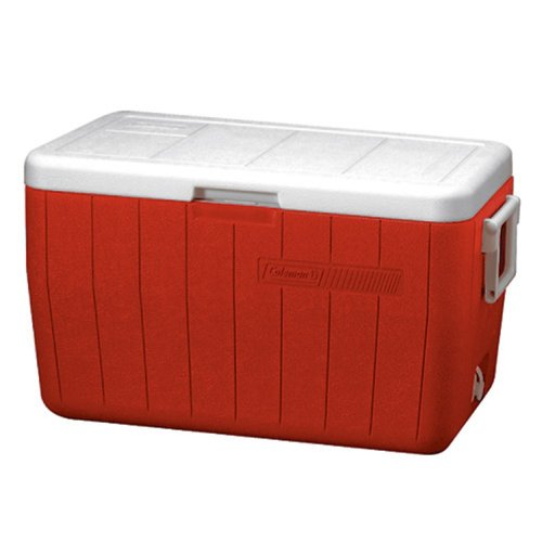 Coleman 48 Quart Performance Cooler Holds 63 Cans, Red