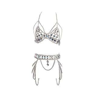 Amazon.com: Freeby Body Chain Set, Sexy Jewelry Set Womens