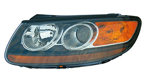 Epic Lighting OE Style Replacement Headlight Assembly Compatible with 2007-2009 Hyundai Santa Fe [ HY2502139 921010W060 ] Left Driver Side LH