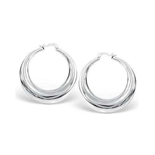 (Stainless Steel Hoop Earring Women Female Fashion Premier Designs Jewelry)