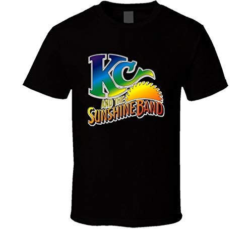 WenQiangtees KC & Sunshine Band 70s Funk Disco Old School Music T Shirt Black