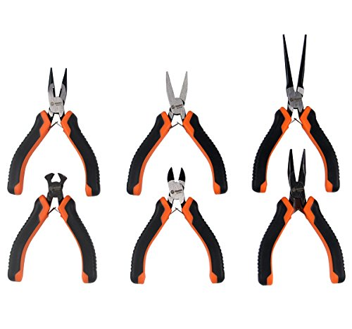 RUWOO Z08006 6-Piece Mini Precision Pliers Set