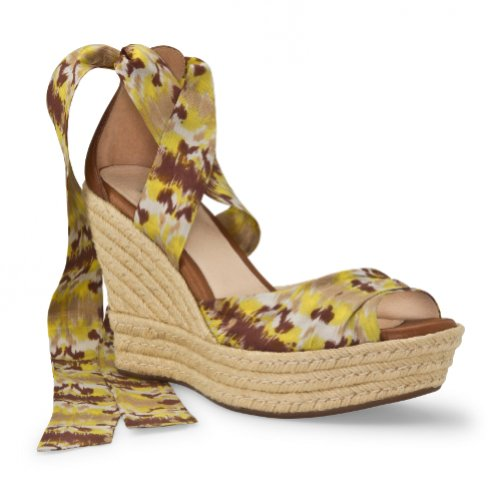 Damen Ugg damen Lucianna Sandalen Lemon Ikat Yellow/Brown/Ecru/Natural