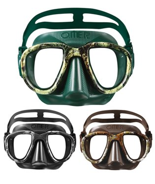 (OMER Alien Mask Freediving and Spearfishing Mask Camouflage (Black Moon))