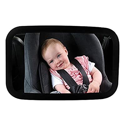 BOGZON Rear Facing Baby View Mirror - Car Back Seat Child Safety Mirror - Infant Rear-view Mirror Features 360 Adjustable Angle, Shatterproof & Wideview, Black by BOGZON that we recomend personally.