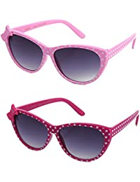 Girls Plastic Polka Dot Bow Sunglasses Lead Free