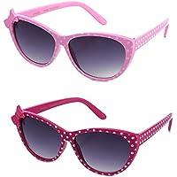 Kyra Kids Girls Plastic Polka Dot Bow Sunglasses Lead Free