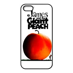iPhone 5,5S Phone Case Black James and the Giant Peach AXF516890