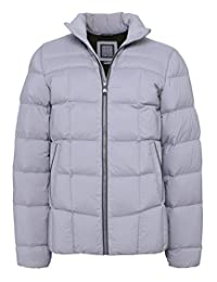 Geox Men's Quilted Down Jacket Ash