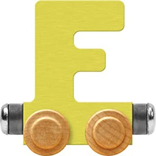 product image for Maple Landmark NameTrain Pastel Letter Car F - Made in USA (Yellow)