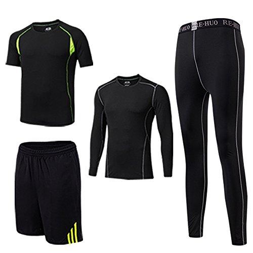 Ensembles Sportswear Survêtements Hommes Soudage à Séchage Rapide Gym Yoga Athletisme Fitness Jogging Survetement Vetements De Fitness