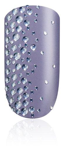 essie Nailsticker STICKERS AND STONES Nr. 09 warmes Lila mit Silbersteinchen / luxuriöse selbstklebende Nagelsticker in zauberhaftem Lavendel, 1 Set Aufkleber aus echtem Nagellack