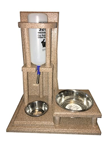 LilPaws Rabbit Water Bottle & Food Bowl Stand