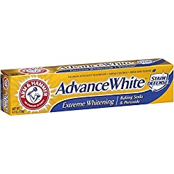 Arm & Hammer Advance Toothpaste Baking Soda Peroxide Tartar Control, White, 6 Ounce