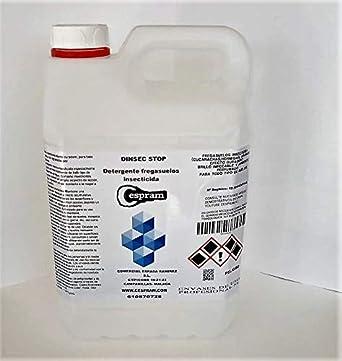 CESPRAM, Detergente fregasuelos insecticida.Eficaz contra cucarachas,hormigas,pulgas y demás insectos rastreros,efecto barrera,perfume floral.Dinsec 50 (Dinsec Stop).