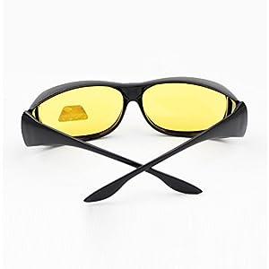 EDTara Polarized Sunglasses for Men Women Cycling Running HD Lenses Wear over Prescription Glasses Night Vision Anti-sand Anti-glare Glasses UV Protection