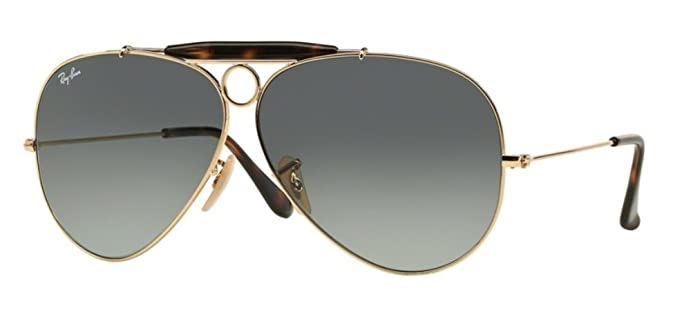 43cd87dac51 ... sale ray ban shooter gold aviator x large sunglasses rb 3138 grey lens  sd d6239 730b7