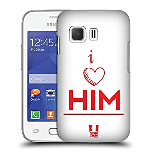 Head Case Designs I Love Him His Plus Her Protective Snap-on Hard Back Case Cover for Samsung Galaxy Young 2 G130