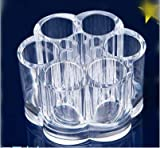Happyi 1pcs Clear Acrylic Flower Cosmetic and
