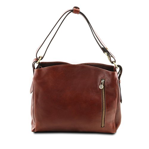 Tuscany Leather Sara - Schultertasche aus Leder - TL141474 (Rot) Rot