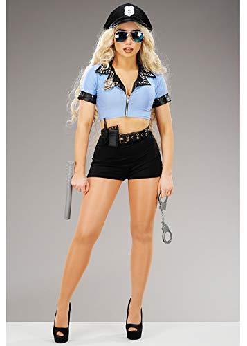 Delights - Disfraz de policía Azul para Mujer: Amazon.es ...