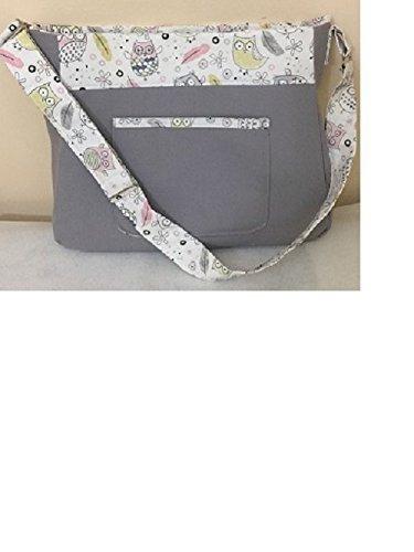 handmade-gray-diaper-bag-tote-bag-nappy-bag-100cotton-bag