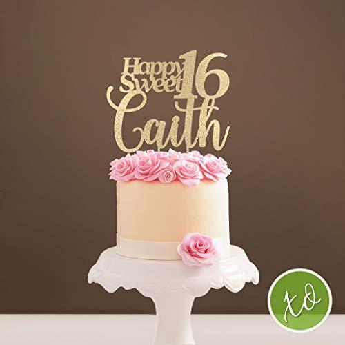 Sensational Sweet 16 Topper Sweet Sixteen Birthday Cake Topper Birthday Cake Personalised Birthday Cards Epsylily Jamesorg