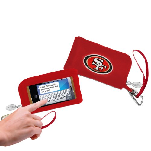 - NFL San Francisco 49ers Womens Cell Phone Wallet with Embroidered Logo by Little Earth