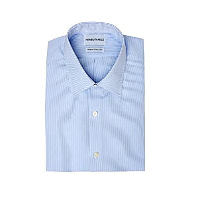 Top Newbury Mills Thin Blue Stripes Dress Shirt for sale