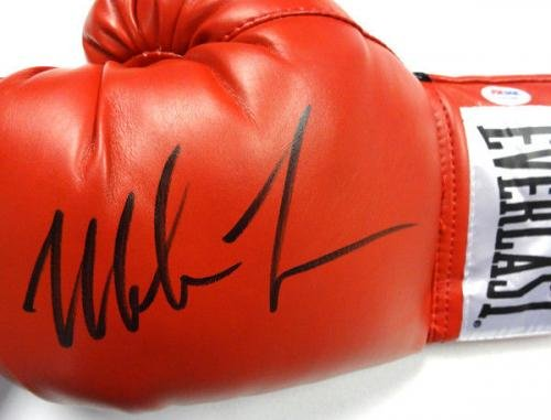 Mike Tyson Autographed Signed Red Everlast Boxing Glove Lh 83687 PSA/DNA Certified Autographed Boxing Gloves