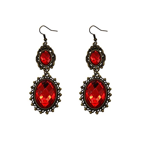 RareLove Lolita Red Rhinestone Teardrop Chandelier Dangle (Cheap Vampire Costumes)
