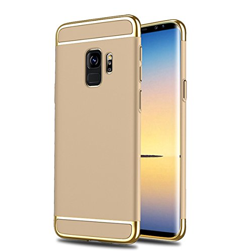 Case S9 S9 Gold Rigido 360 Cover Absorption in 3 Samsung Custodia Antigraffio Sottile Galaxy per Ultra PC Shock Duro Cassa 1 Gradi Galaxy Case Galaxy S9 Samsung Plus aAwIpA4