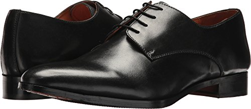 Carlos by Carlos Santana Mens Power Plain Derby Shoes in Blake Construction Black Full Grain Calfskin Leather ZBcHN88PB