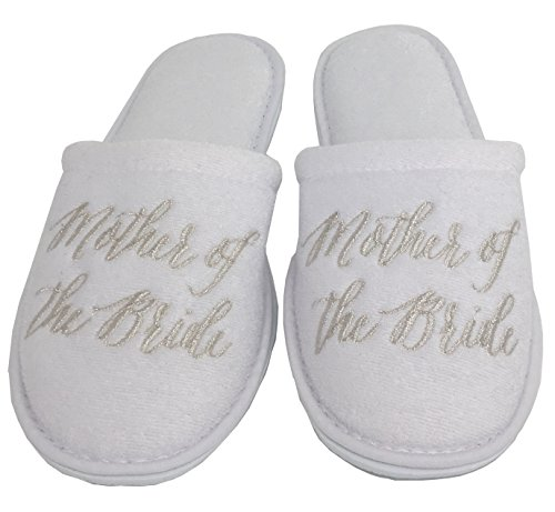 8cb0688bb Personalized Slippers Wedding Slippers - (Large (W-7-9)
