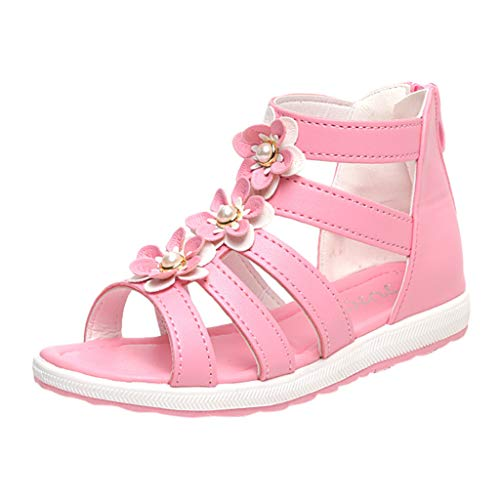093b26f88 Mysky Summer Toddler Baby Kids Girls Popular Sweet Pearl Flower Hollow Zip  Princess Sandals Pink