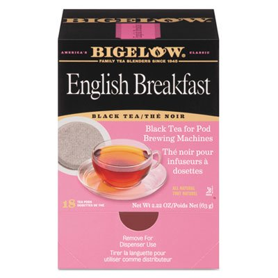 (English Breakfast Tea Pods, 1.90 oz, 18/Box)