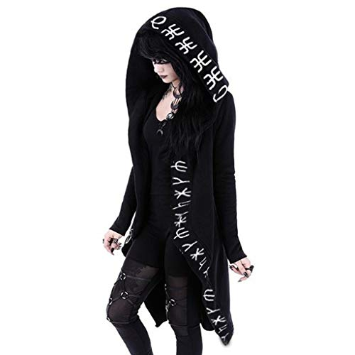 DONTAL Women's Open Front Hooded Long Sleeve Cardigan Plus Size