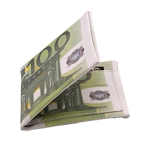 - GUAngqi PU Leather Wallet Bank Paper Note Money Pouch Currency Euros