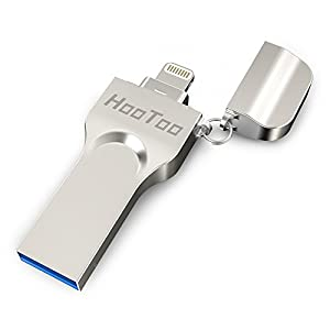 HooToo iPhone iPad Flash Drive 64GB USB 3.0 Memory Stick with Extended Lightning Connector for iPod iOS Windows Mac, External Storage Expansion