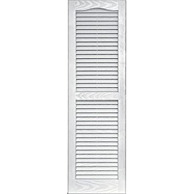 Vantage 0114047123 14X47 Louver Arch Shutter/Pair 123, White by The TAPCO Group - DROPSHIP