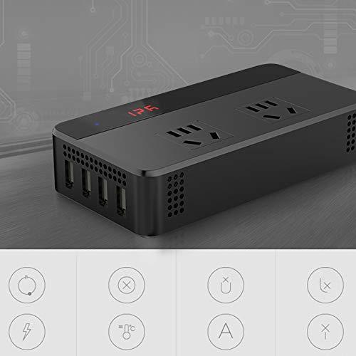 220 V con 4 Puertos USB Cargador de Enchufe de Coche para Viaje en Coche de Cami/óN 24 V a AC Inversor de Corriente Autom/áTico de 110 V CUHAWUDBA Inversor de Coche de 200 W DC 12 V