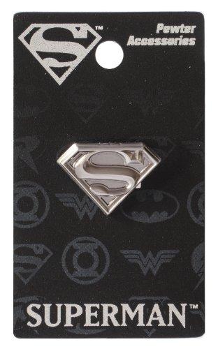 DC Superman Logo Pewter Lapel Pin