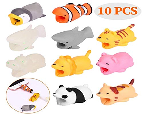 UNKNOW BRAND Cable Animal BIT compitable Phone Cable Cord Cute Animal Phone Accessory Protects Cable Accessory (10 Packs)
