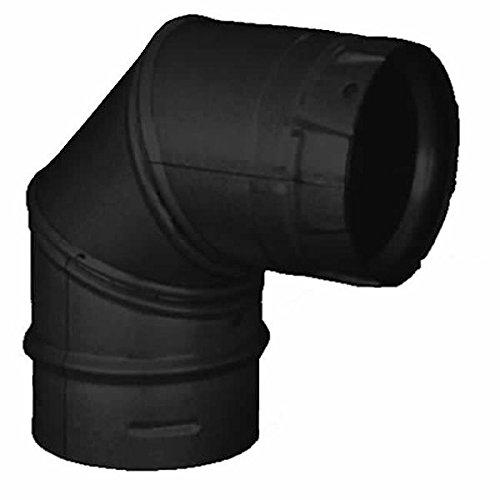 3'' PelletVent Pro Black 90 Degree Elbow - 3PVP-E90B