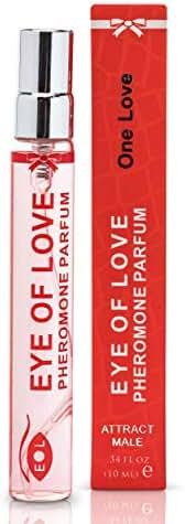 Eye of Love - One Love Pheromone Perfume Spray Attract Men - Sexy Fragrance - Extra Strength Human Pheromones Formula - 10ml Travel Size